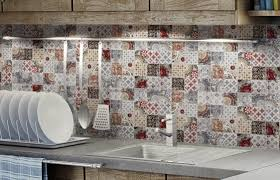 Red Kitchen Backsplash Top 15 Patchwork Tile Backsplash Designs For Kitchen
