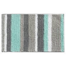Grey Bathroom Rugs Stripe Bath Rug 34