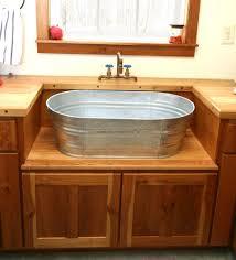 fantastic galvanized bathroom sink on modern home decoration ideas