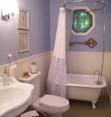 bathroom light purple wall decorating ideas with wainscoting