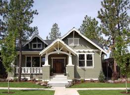 craftsman style home designs craftsman style home plans with green wall color and gray roof