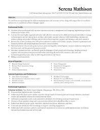 Project Manager Resume Description Management Trainee Resume Objective Sles 28 Images Technical