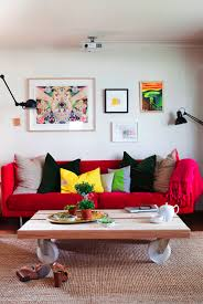 Red Sofas In Living Room by Adorable Red Sofas Creating A Modern Impression Of Living Room