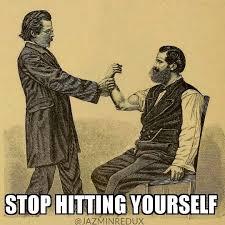 National Sibling Day Meme - national sibling day meme stop hitting yourself jazmin