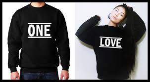one sweatshirt matching shirts