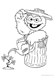 oscar the grouch coloring pages free coloring book 3675