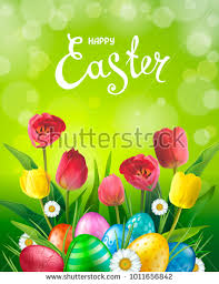 easter greeting cards easter greeting card realistic glossy 3d stock vector 1011656842
