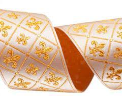 wholesale ribbon supply buy ribbon gold fleur de lys ribbon raphael kerley