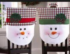 Snowman Chair Covers Christmas Decor Happy Santa Claus Chair Cover Dinner Table Party