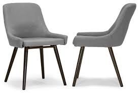 Midcentury Dining Chair Ade Modern Gray Fabric Dining Chairs With Beech Legs Set Of 2