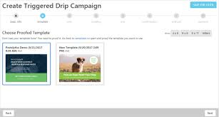 direct mail templates triggered drip direct mail caigns postalytics