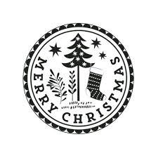 wooden merry christmas stamp craft scrapbooking