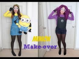 Minion Womens Halloween Costume Yellow Purple Minion Halloween Tutorial Costumes