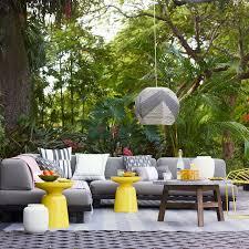 Tillary Outdoor Modular Seating West Elm - Yellow patio furniture