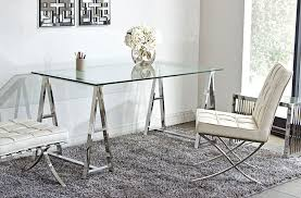 Modern Glass Top Desk Modern Glass Top Office Desk