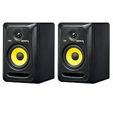 black friday studio monitors krk krk rokit rp5 g3 active studio monitor speakers pair black
