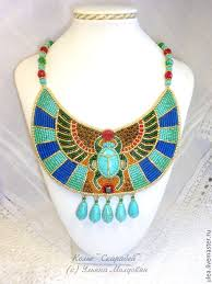 jewellery collar necklace images Egyptian collar necklace quot scarab quot shop online on livemaster with jpg