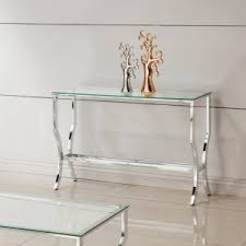 Glass Sofa Table Modern Furniture Organization Dazzling Glass Console Table For Modern