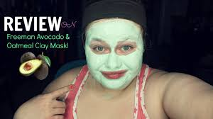 review avocado u0026 oatmeal clay mask from freeman 2016 youtube