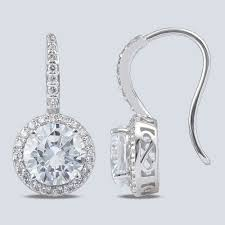 hook earrings juliette halo cubic zirconia shepherd hook earrings