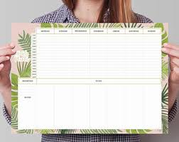Weekly Desk Pad Monthly Weekly Planner Desk Pad A3 Desk Pad Calendar With