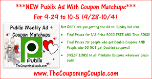 publix ad with coupon matchups for 9 29 to 10 5 16 9 28 to 10 4