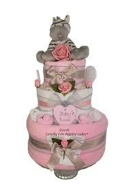 deluxe three tier unisex baby nappy cake gift dumbo coochy coo
