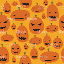 halloween repeating background patterns halloween jackolantern pumpkin seamless background pattern stock