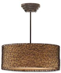 Drum Shade Chandelier Lighting Bronze Drum Shade Chandelier As Your Own House Equipments Together
