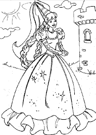 printable princess castle coloring coloringpagebook