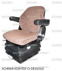 siège grammer maximo basic pour tracteur avec revêtement tissu
