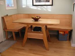 Wood Banquette Seating Kitchen Table With Bench Seating Classic Kitchen Design With