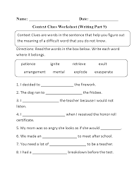 Spanish To English Worksheets Englishlinx Com Context Clues Worksheets
