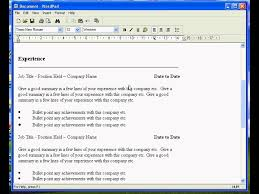 How To Make Resume With No Job Experience by Create A Resume In Wordpad Youtube