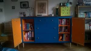 ikea expedit turns into beautiful blue sideboard cabinet ikea