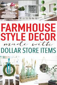 20 FARMHOUSE DECOR FROM THE DOLLAR STORE CRAFT IDEAS