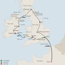 English Channel Map Add Paris Tours To This Britain And Ireland Tour Package