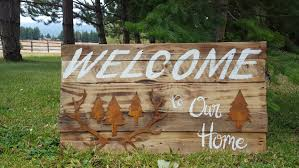 home signs decor welcome sign welcome to our home sign rustic welcome sign