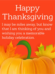 thinking of you happy thanksgiving card birthday greeting