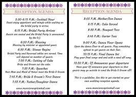wedding reception agenda wedding reception weddingplanning