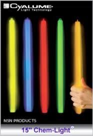 light sticks cyalume light sticks 15 impact chem light chemical light sticks