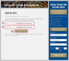 how to use an online freight and customs clearance calculator