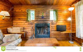 Log Home Interior Photos Cozy Interior Of A Rustic Log Cabin Stock Photo Image 76337185