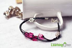 make leather cord bracelet images How to make a vivid leather cord bracelet with fuchsia beads jpg