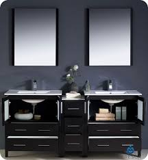 Bathroom Vanity With Side Cabinet 72 Fresca Torino Fvn62 301230es Uns Modern Sink Bathroom