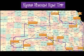Map Of The State Of Kansas by Haunted Kansas Road Trip 13 Spooky Locations To Make Your Blood