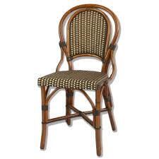 Patio Bistro Chairs Marais Rattan Bistro Chair Ivory Brown Bronze American Country