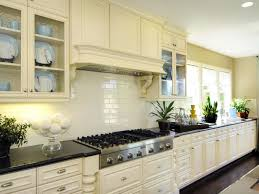 white tile backsplash with some indoor plant and black granite top