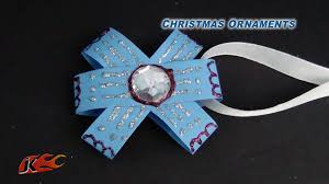 diy easy paper christmas ornament how to make project