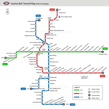 Shanghai Subway Map by Suzhou Rail Transit Maps Metro Lines Stations